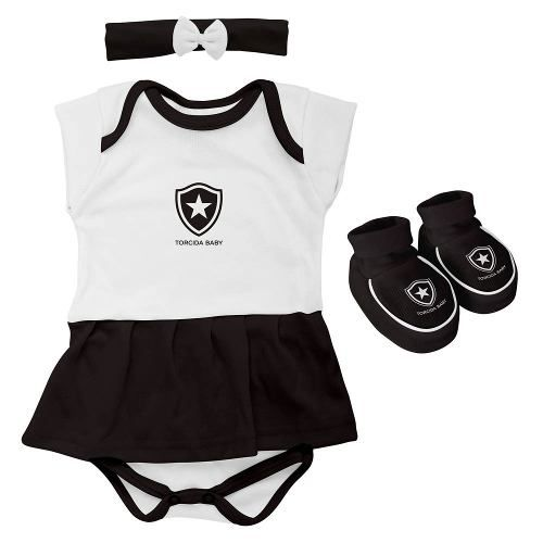 Body Infantil Feminino Torcida Baby - Botafogo