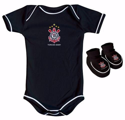 Body Infantil Masculino Torcida Baby - Corinthians