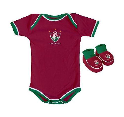 Body Infantil Masculino Torcida Baby - Fluminense - Titanes Esportes 1bb18a61c8c40