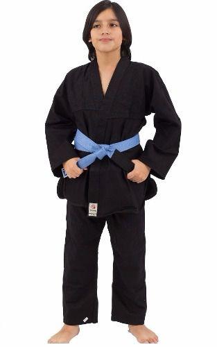 Kimono Torah Combat Kids - Judo / Jiu Jitsu - Preto