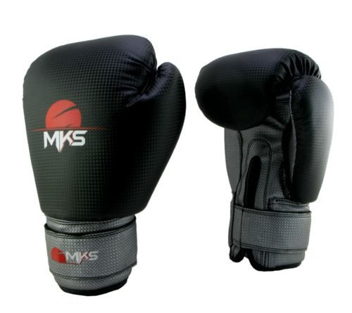 Luva Boxe Muay Thai Mks - Preta