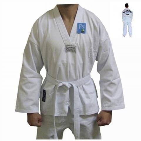 Kimono dobok Taekwondo Torah Gola Branca - A5