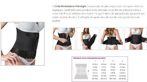 Cinta Modeladora Slim Waist Hidrolight GG - Preta