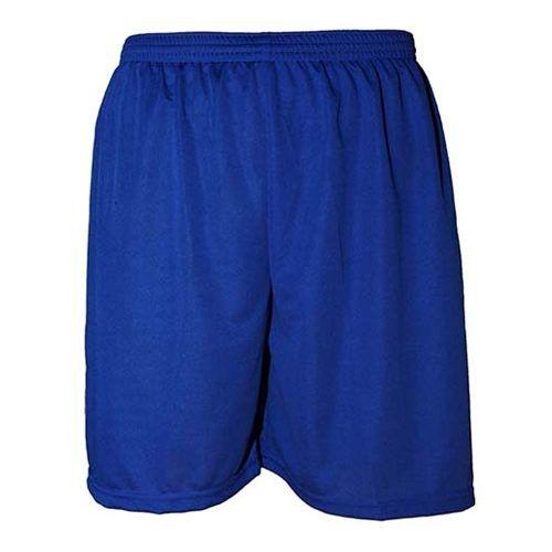 Calção de Futebol Liso Poliéster Nata Sports - Azul