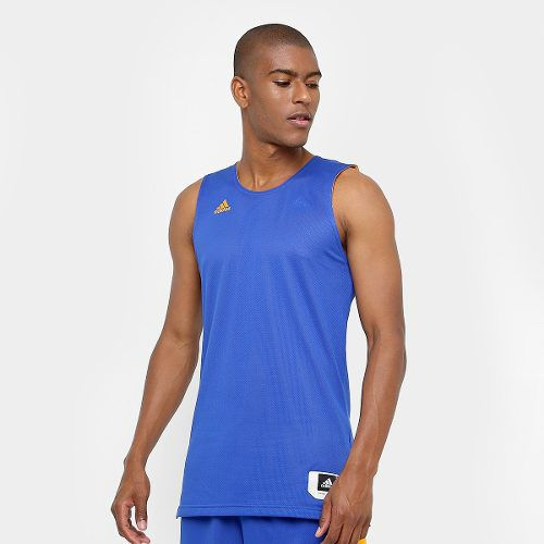 Camiseta Regata adidas Treino Reversivel - Azul amarelo - Titanes Esportes 718c6a70e8b