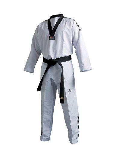 Kimono Dobok Adi-fighter 3s Taekwondo adidas - Gola Preta