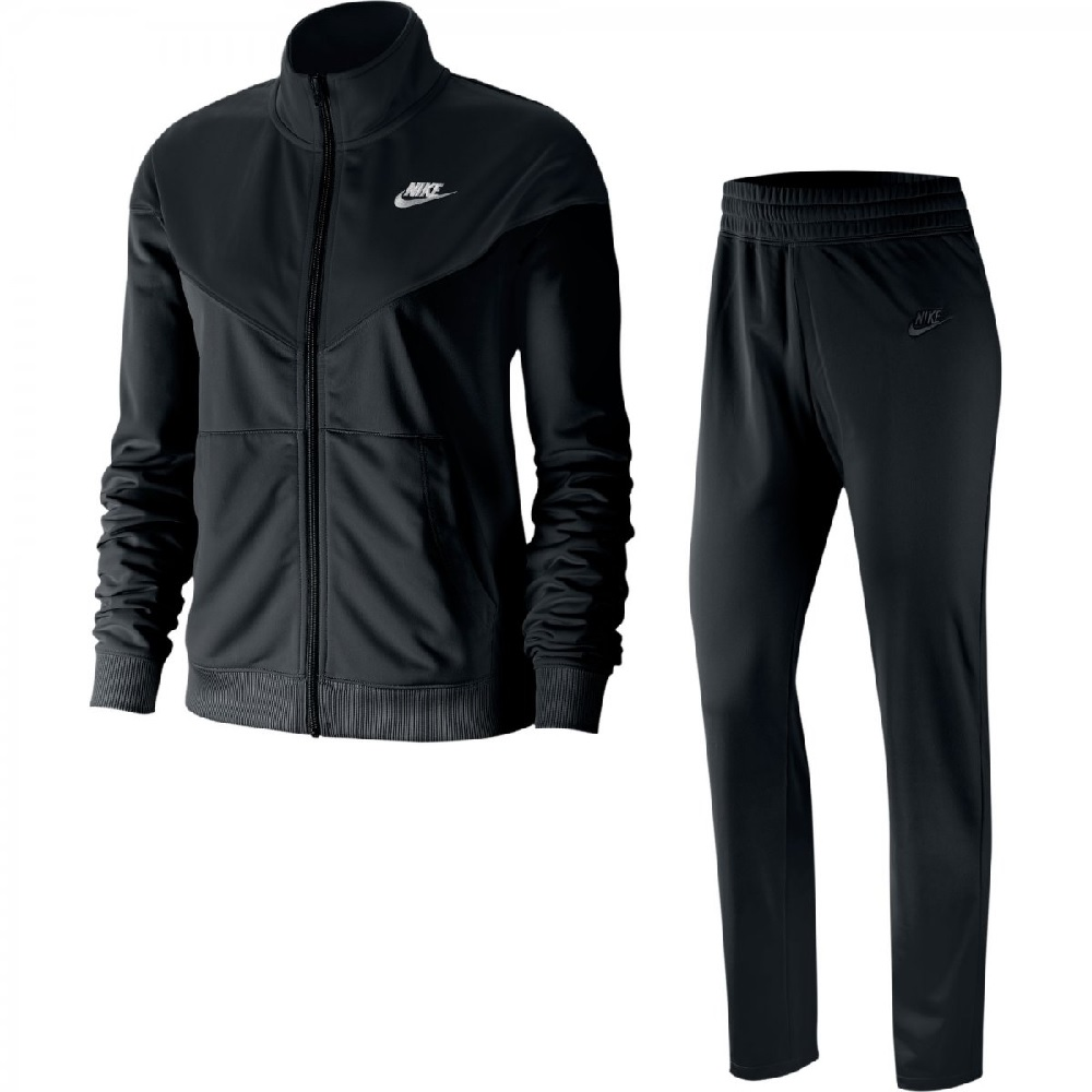 Conjunto Agasalho Nike NSW Track Suit Feminino - Preto / Branco