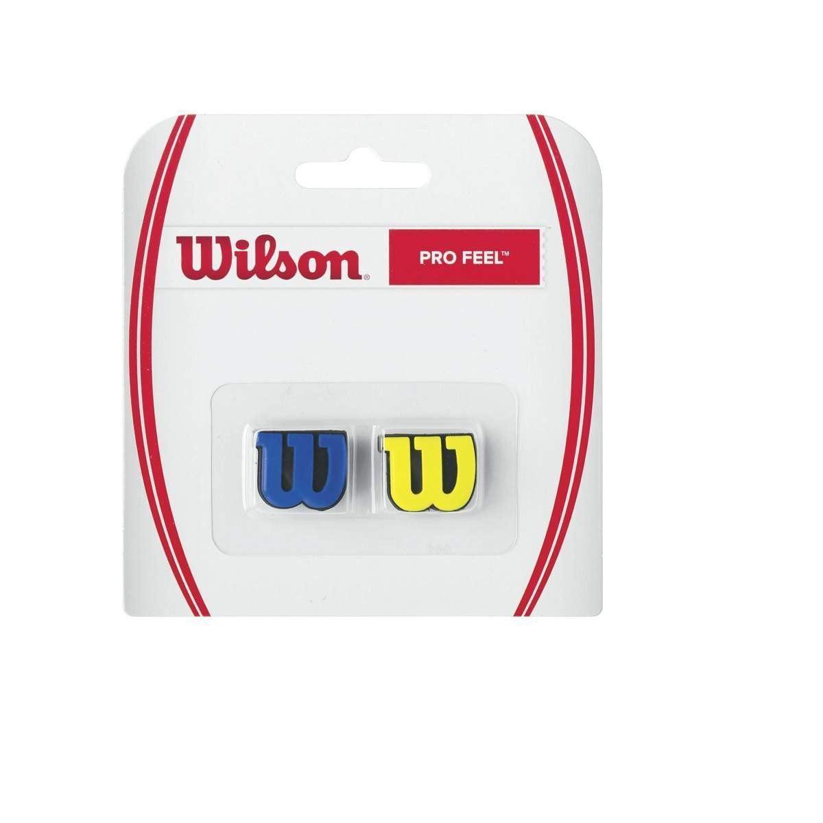 Antivibrador Wilson Pro Feel WRZ537700 - Azul / Amarelo