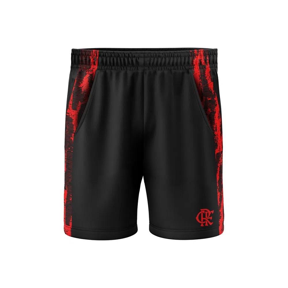 Bermuda Braziline Flamengo Strain Adulto - Preto/Vermelho