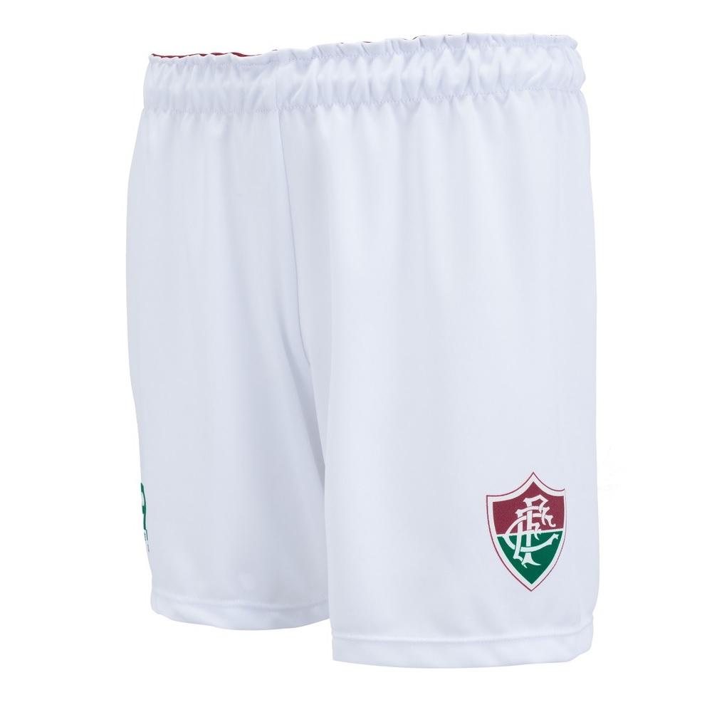 Bermuda Braziline Fluminense Flash Infantil - Branco