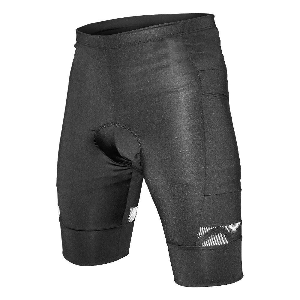 Bermuda Ciclista Poker Bolso Gel Max Comfort Masculina - Preta