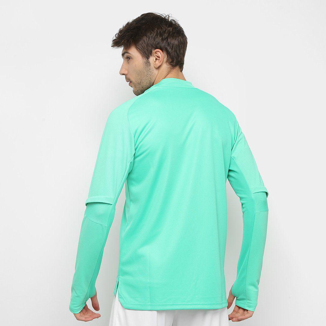 Blusa Flamengo 20/21 Treino Adidas Masculina - Verde água