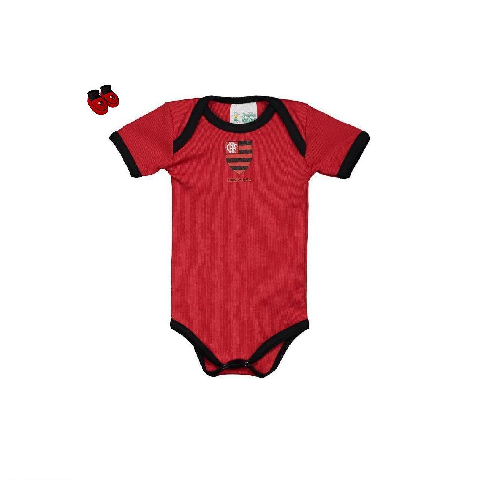 Body Flamengo Infantil Masculino Torcida Baby