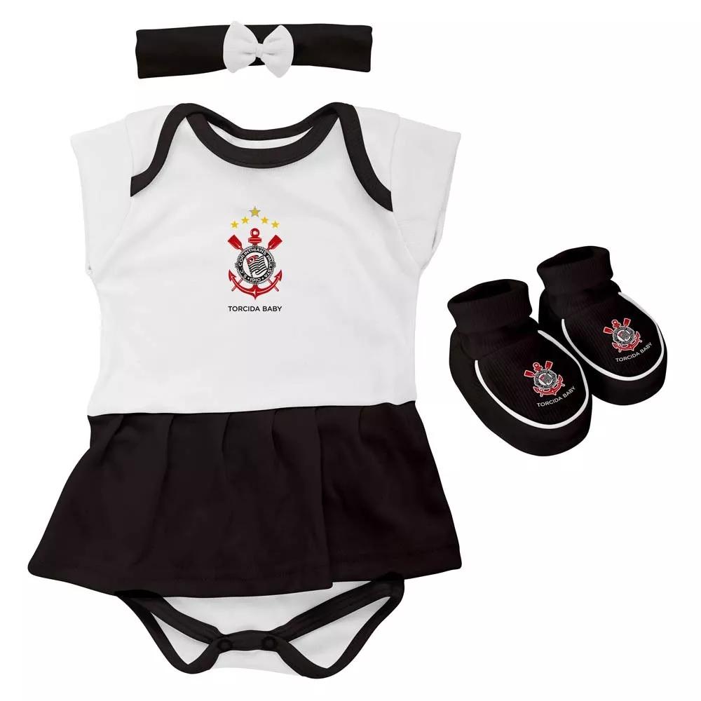 Body Infantil Feminino Torcida Baby - Corinthians - Titanes Esportes a4df3d1d9645b
