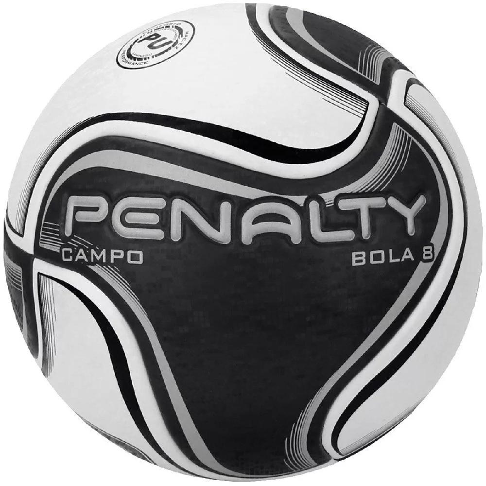 Bola Penalty de Futebol Campo  8 X - Branco/Preto