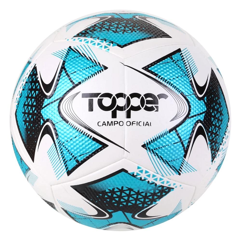 Bola de Futebol Topper Campo Oficial 22 - Branco / Azul