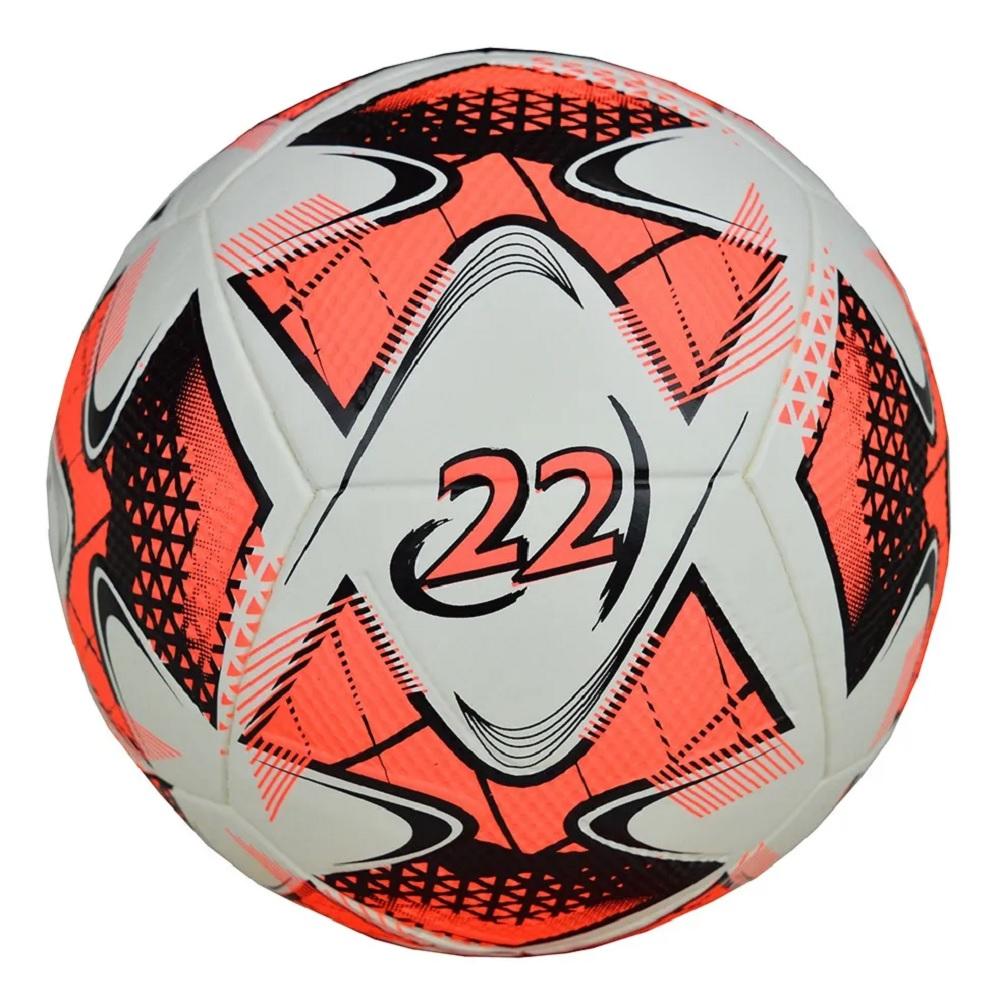 Bola de Futebol Topper Society Oficial 22 - Branca / Laranja