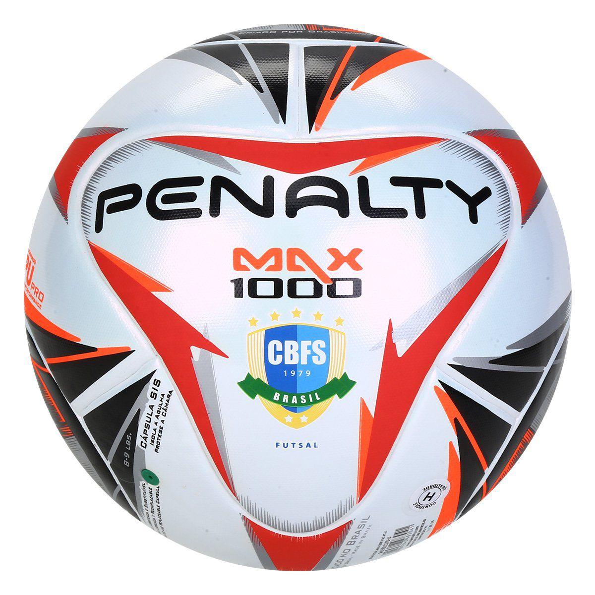 Bola Penalty Max 1000 X CBFS - Branco e Preto