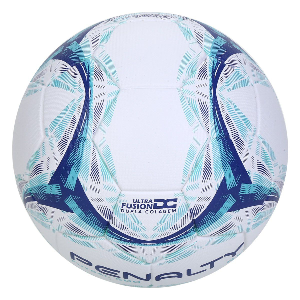Bola de Futsal Penalty Rx R1 500 IX - Branco e Azul