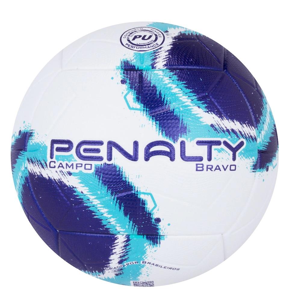 Bola Penalty Campo Bravo XXI - Azul/branco