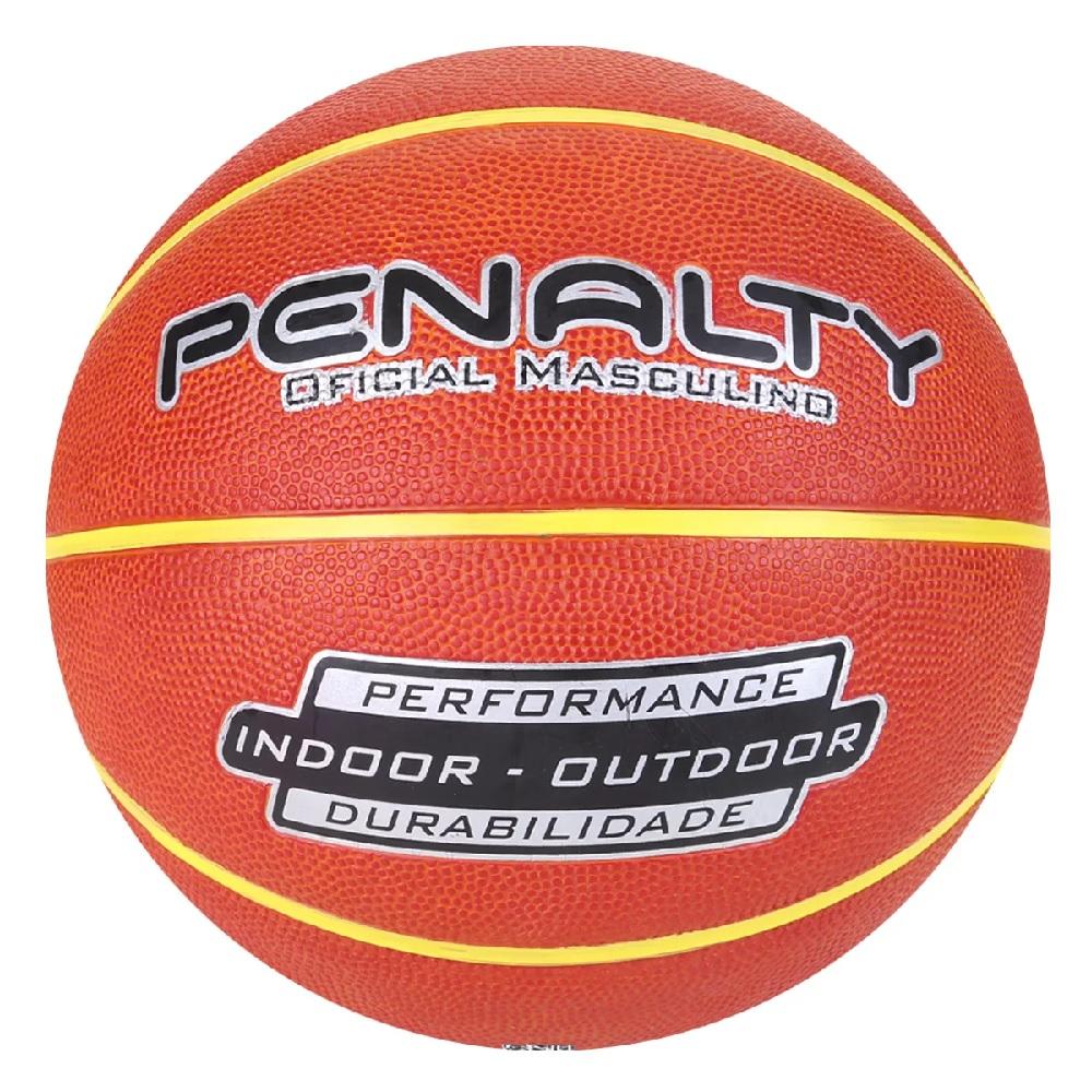 Bola Penalty de Basquete  Dunk Oficial - Preto/Amarelo