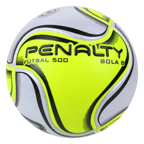 Bola Penalty Futsal 500 8 X - Branco / Amarelo