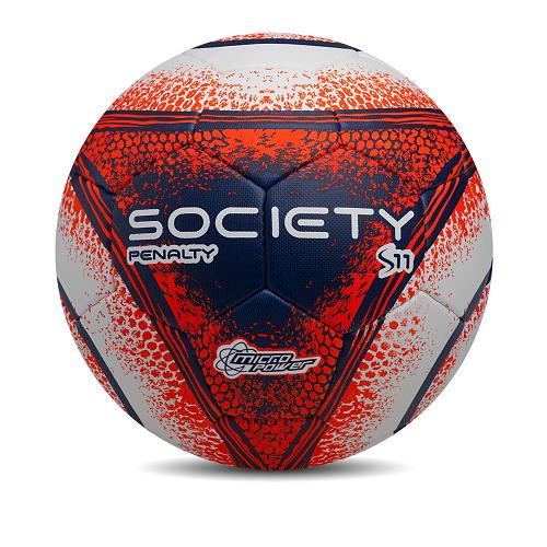 Bola Penalty Society S11 R4 2018 19- Laranja   Branca - Titanes Esportes e6f702c89336b