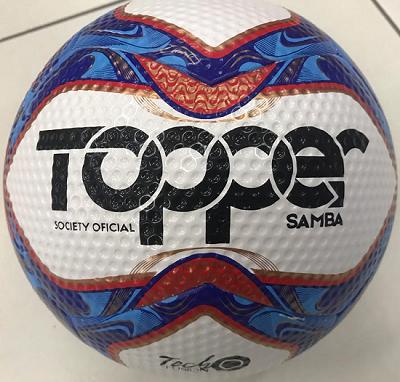 6ca34fc889f38 BOLA TOPPER SAMBA II SOCIETY BRANCO AZUL - Original - Titanes Esportes