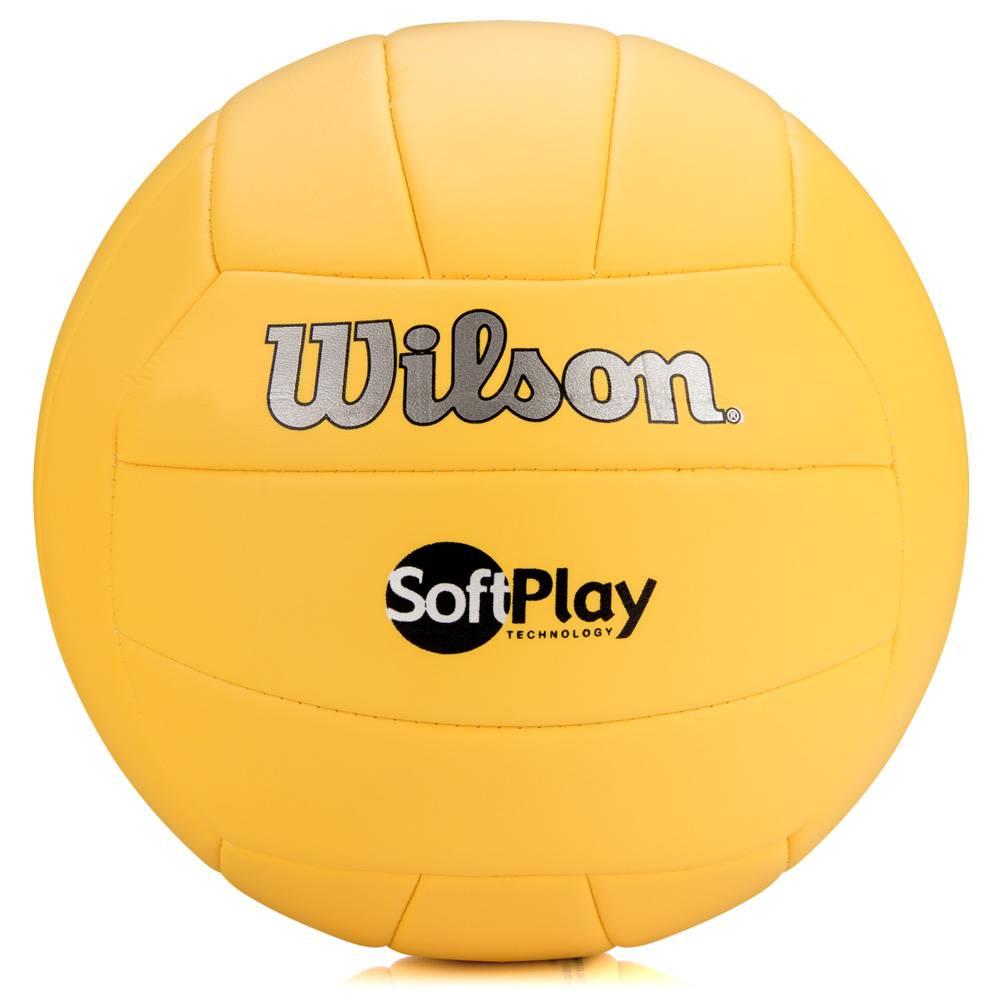 BOLA VOLEI WILSON SOFT PLAY AMARELA - OFICIAL - Titanes Esportes 17dea04bd7678