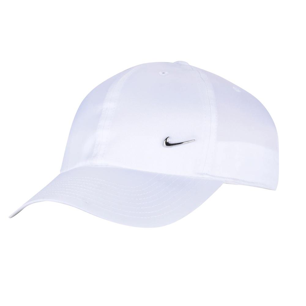 Boné Nike Aba Curva Heritage 86 Metal Swoosh - Branco