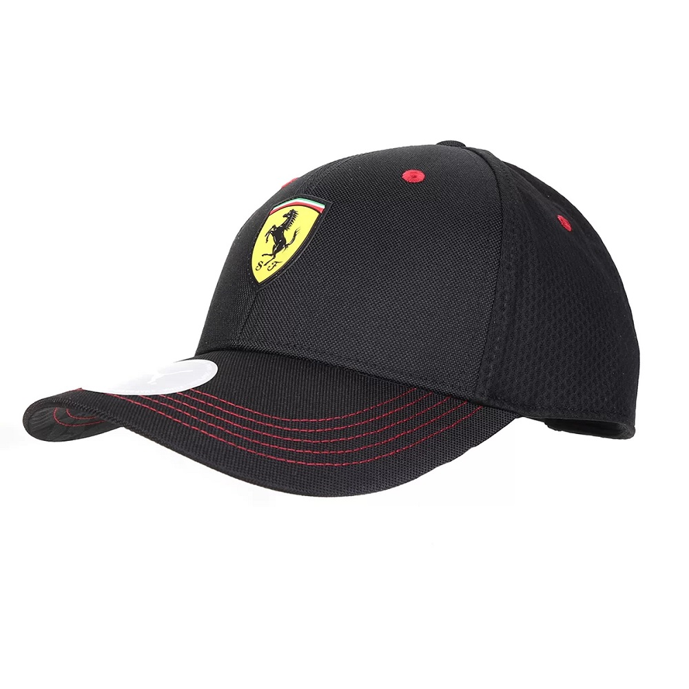 Boné Puma Aba Curva Ferrari Fanwear BB Cap - preto