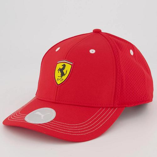 Boné Puma Aba Curva Ferrari Fanwear BB Cap - Vermelho