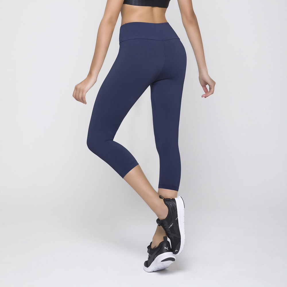 Calça Corsário Fitness - Selene -  Azul
