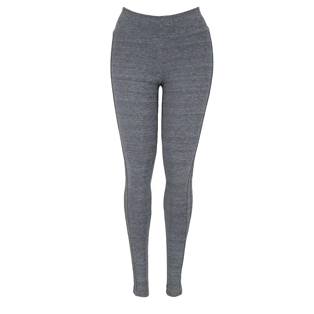 Calça Legging Adidas M 3s L cinza - Feminina
