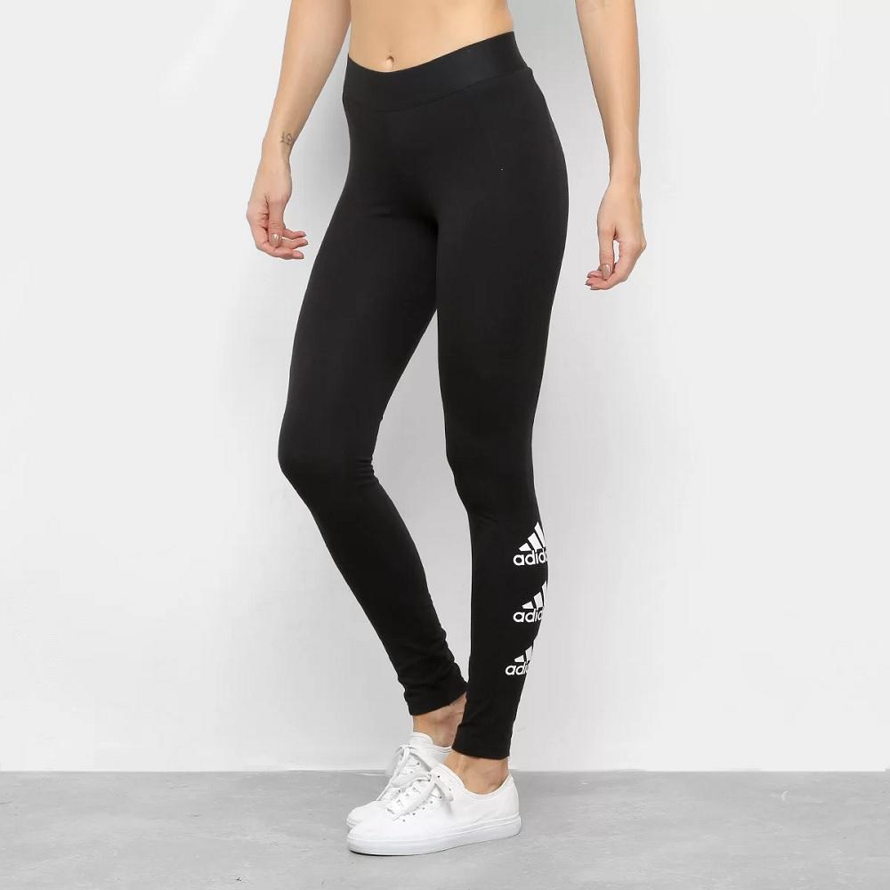 Calça Legging Adidas Stacked tight - preta