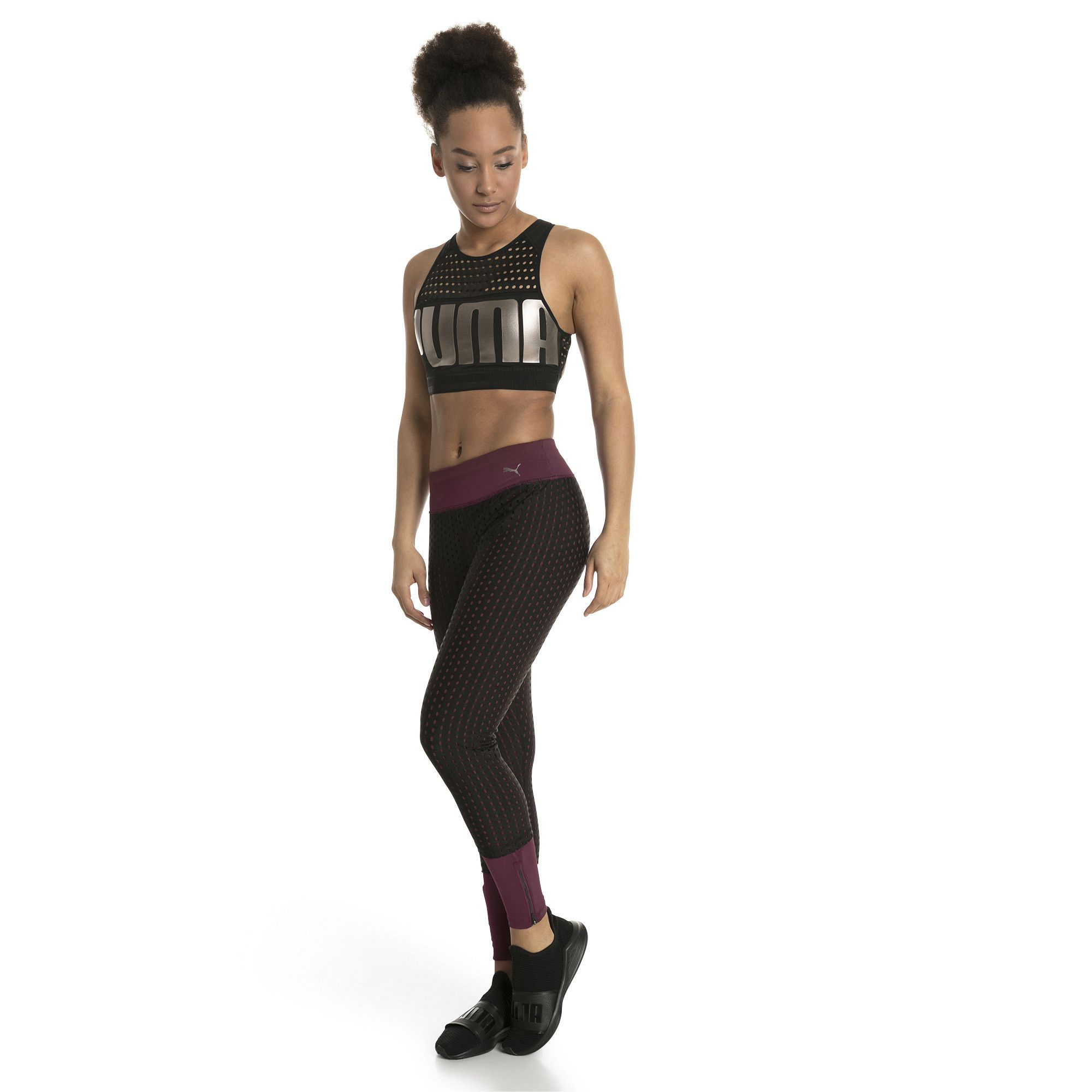 Calça legging Puma luxe mesh tight -