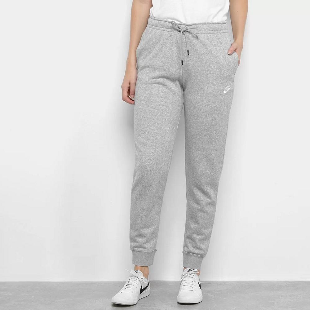Calça Nike Moletom Sportswear Essential Feminina - Cinza