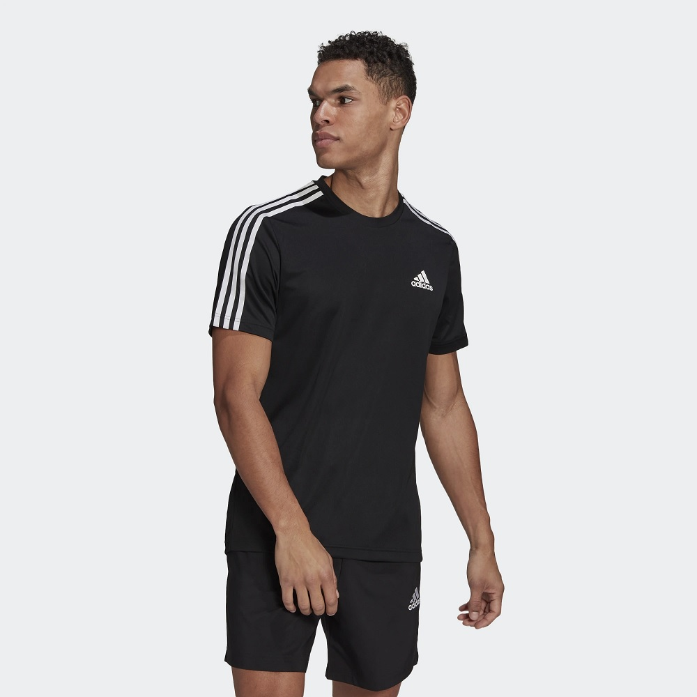 Camisa Adidas aeroready 3-stripes - Preto - Masculina