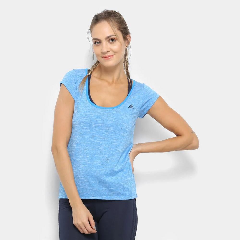Camisa Adidas Baby Bro Tee - Azu l- feminina