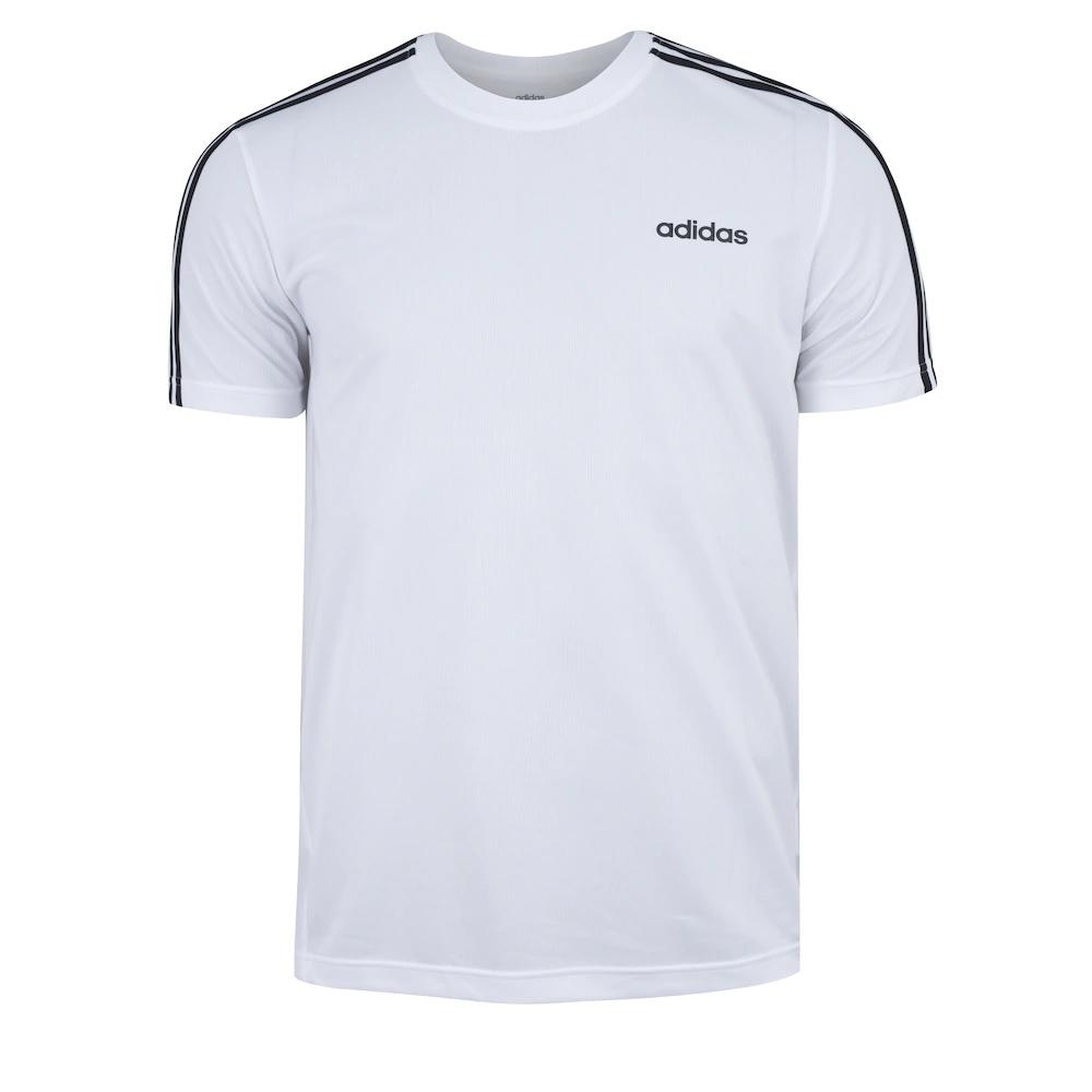 Camisa Adidas designed 2 move 3S - branca