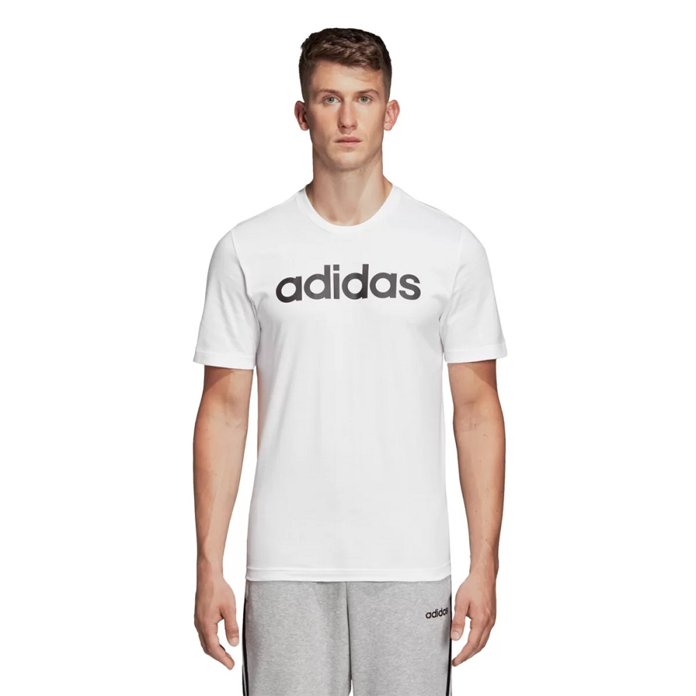Camisa Adidas Essentials Linear Tee Masculina - Branca