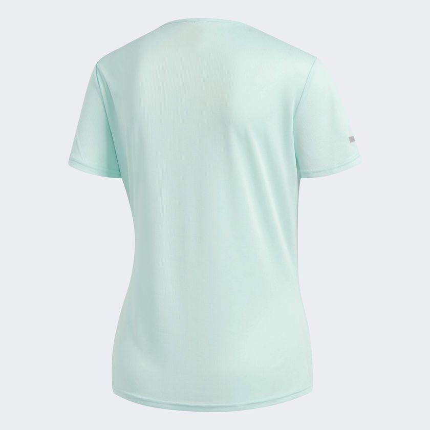 Camisa adidas Feminina Run Tee - Verde Água