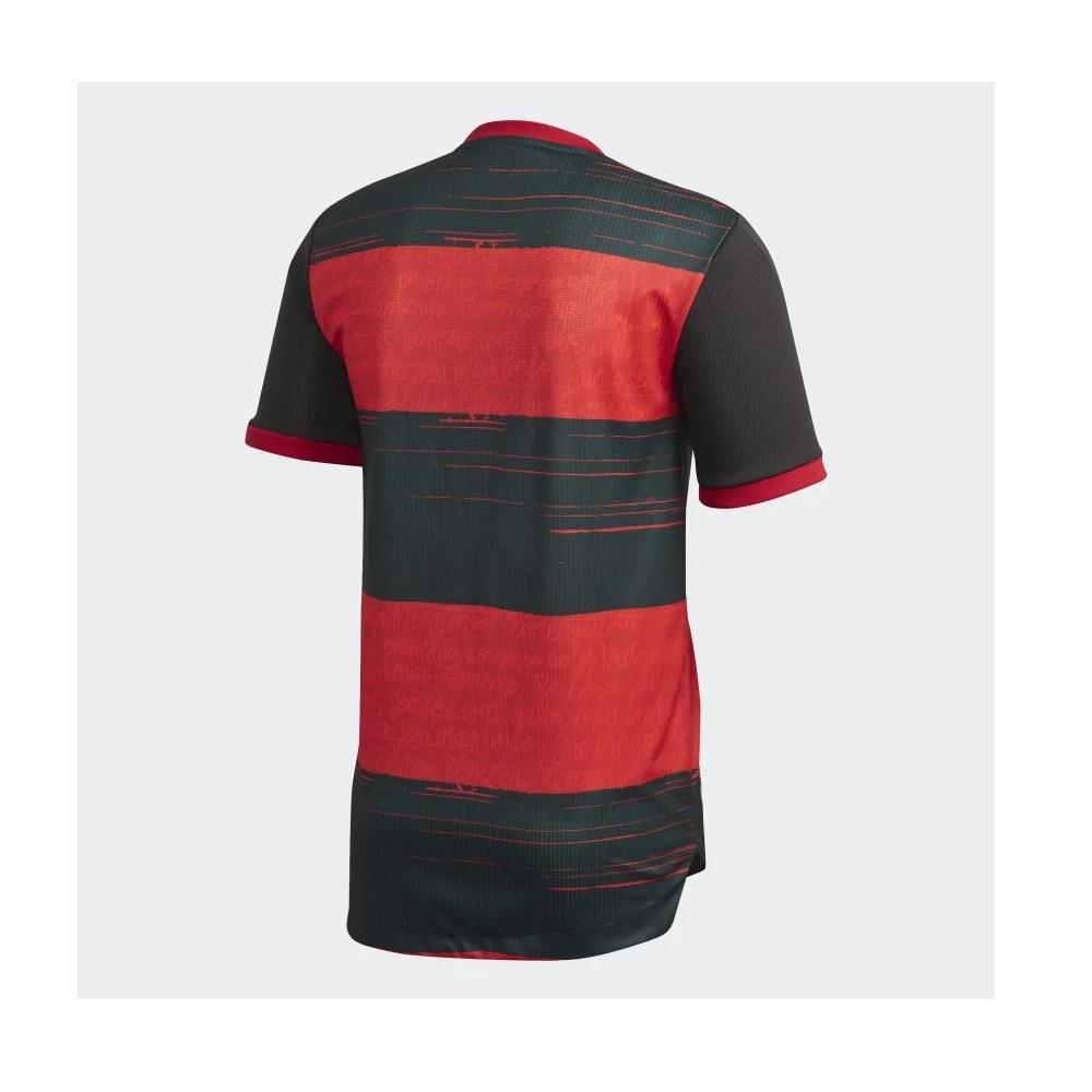 Camisa Adidas Flamengo I 20/21 s/n° Torcedor  - PRT/VER