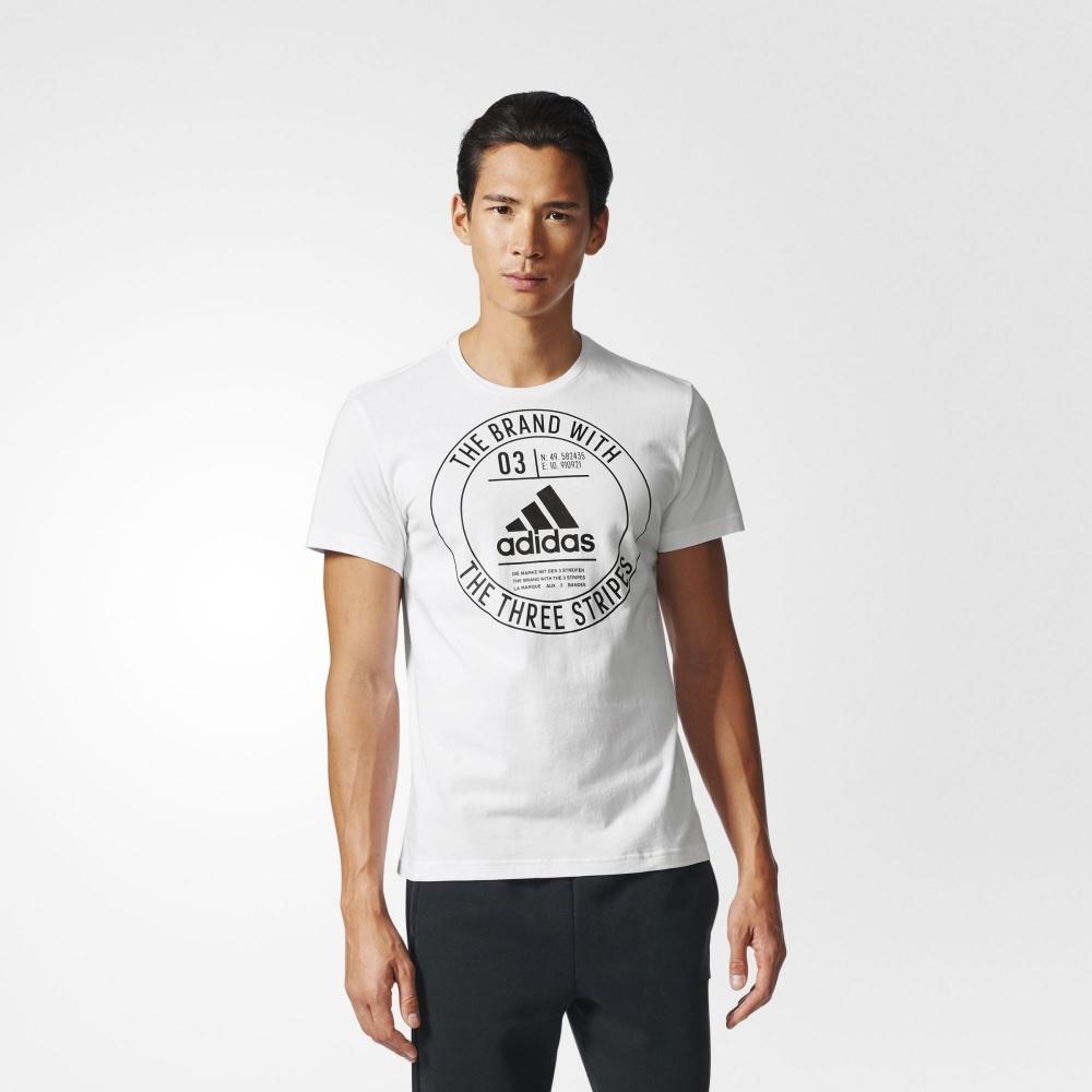Camisa Adidas Mc Badge - Branca - Masculina