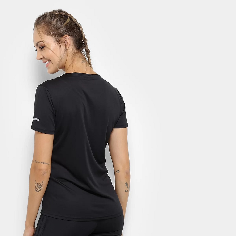 Camisa Adidas Running Tee - Preto - Feminina