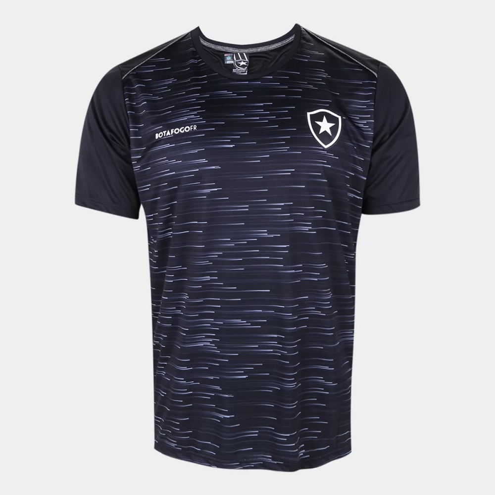 Camisa Botafogo Hide Braziline - Adulto Preta