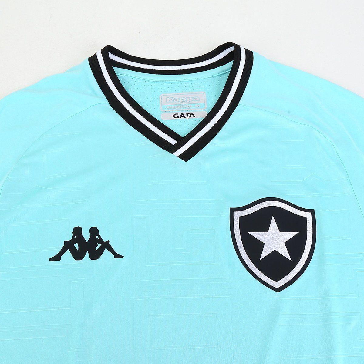 Camisa Botafogo III 2019 Kappa Goleiro Masculina Verde Água