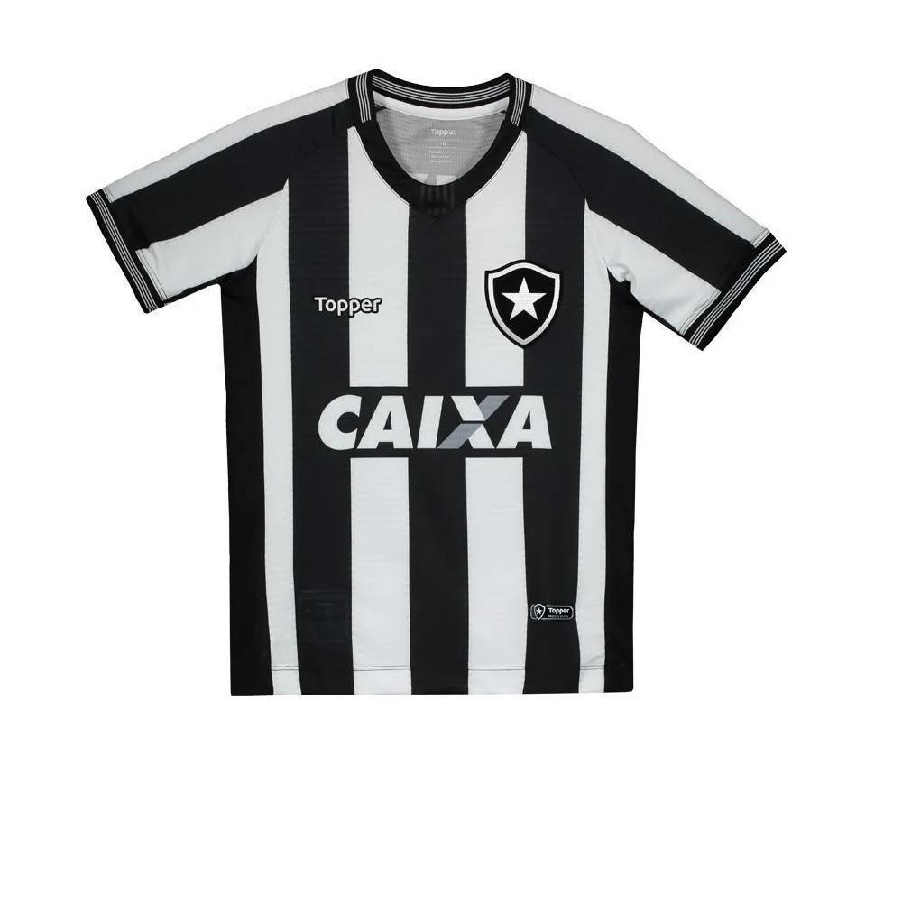 Camisa Botafogo Jogo I Oficial Juvenil Listrada - Topper