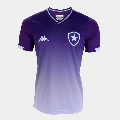 Camisa Botafogo Juvenil Goleiro Jogo1 Kappa Oficial - Roxo