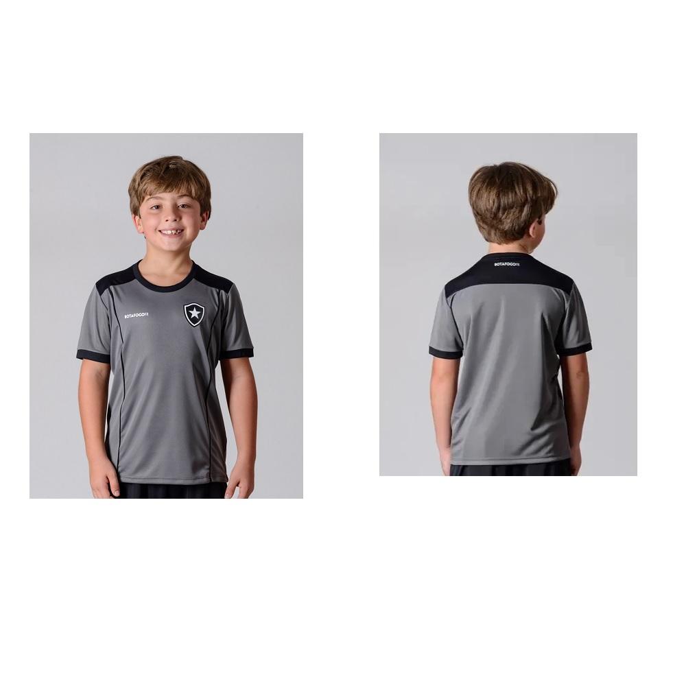 Camisa Botafogo Slide Braziline - Infantil Cinza